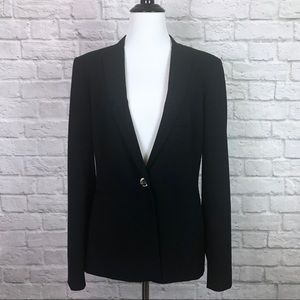 Calvin Klein Black Blazer Jacket 8 Career Work